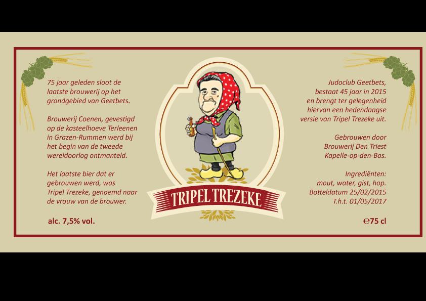 Tripel Trezeke streekbier etiket